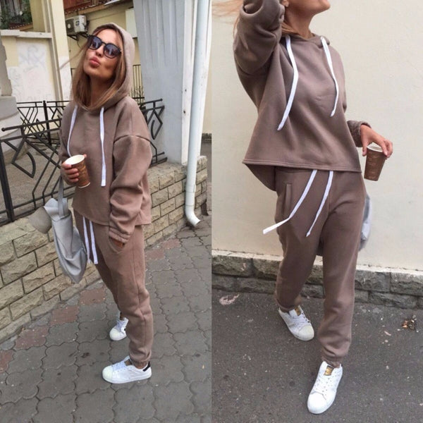 Women's Casual Sport 2 PC Tracksuit (2 Piece Matching Set)