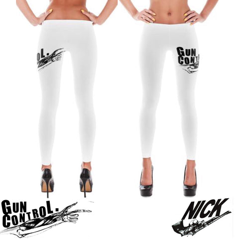"""Gun Control"" Exclusive Nicknickers Leggings ""Unisex"""