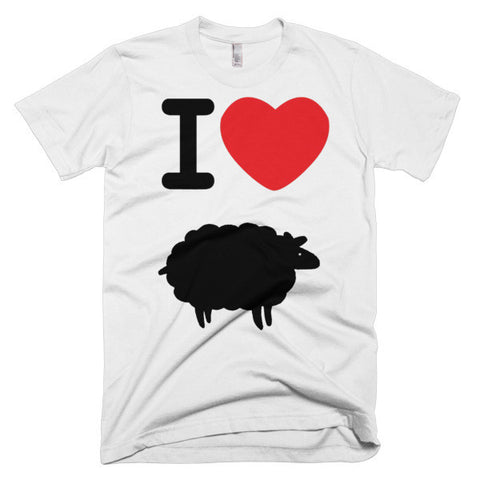 """I heart black sheep"" Exclusive Nicknickers t-shirt"