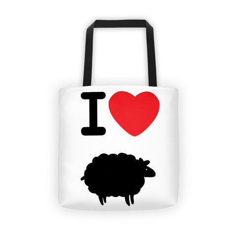 """I heart black sheep"" Tote bag"