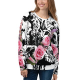 Black And White And Pink All Over Nicknickers Sweatshirt