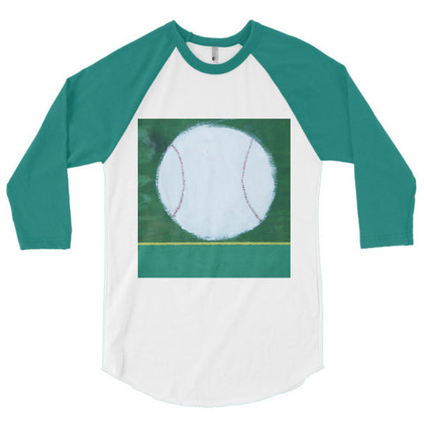 """We want a pitcher..."" 3/4 sleeve raglan shirt"
