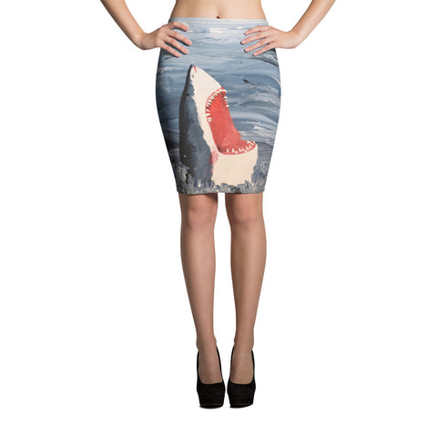 Chaos Painting Pencil Skirt