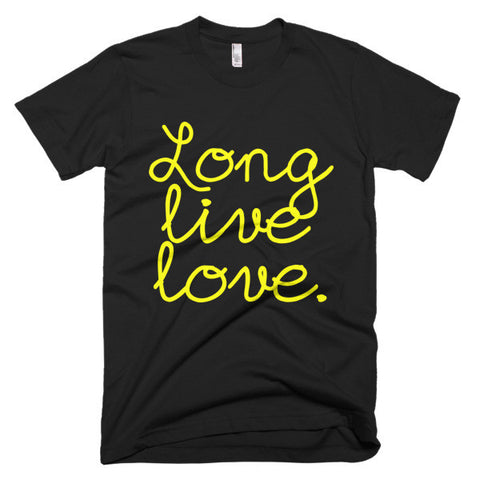 """Long live love"" Short sleeve men's t-shirt"