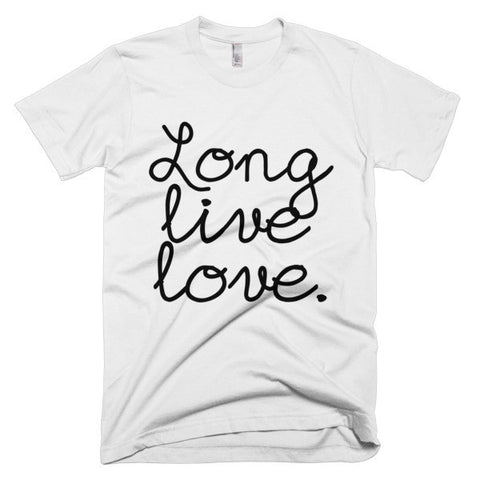 """Long live love."" Exclusive design men's t-shirt"