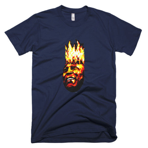 """Lovie On Fire""  Short sleeve men's t-shirt"