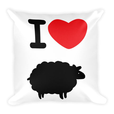 """I Heart Blacksheep"" Pillow"