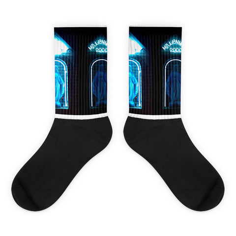 Black foot socks