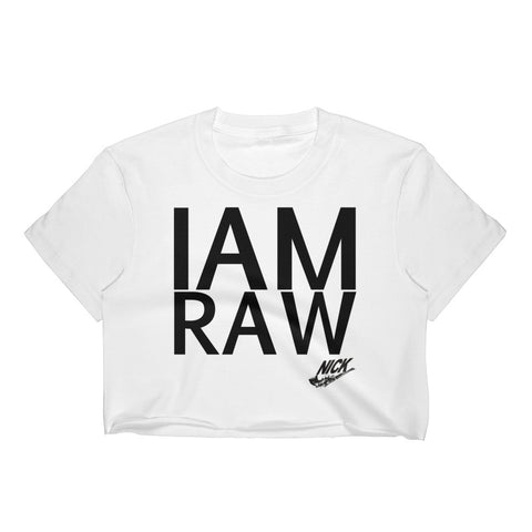 """I AM RAW"" NICKNICKERS SPRING 2018 COLLECTION Crop Top"