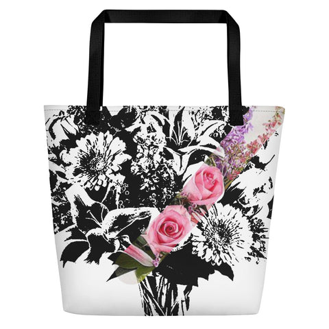 Flowery Nicknickers Beach Bag