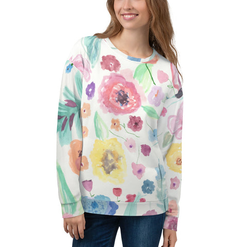 Nicknickers Wallflower-paper Unisex Sweatshirt