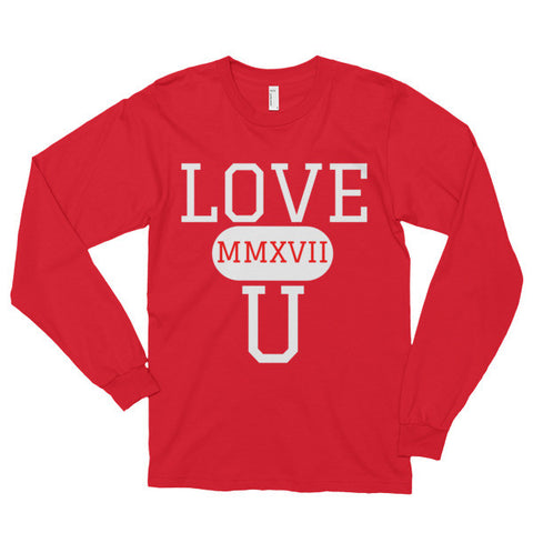 """LOVE U 2017""  Nicknickers exclusive Long sleeve t-shirt (unisex)"