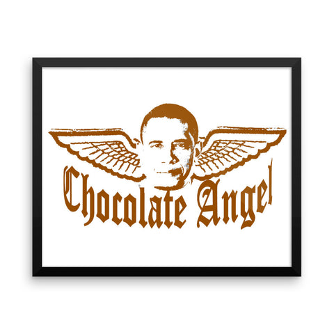 """Chocolate Angel"" Framed photo paper poster"