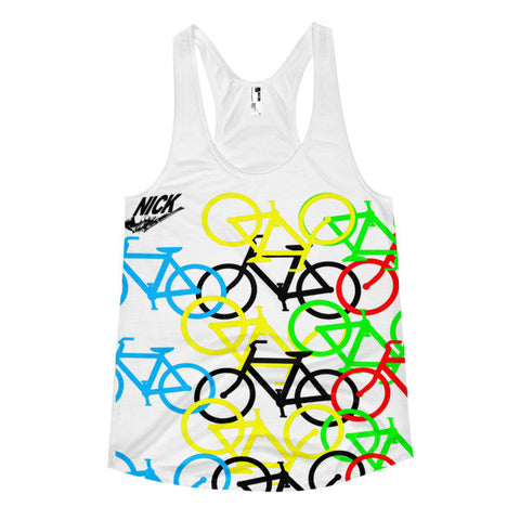 """Wear the bikes again? Women's racerback tank"