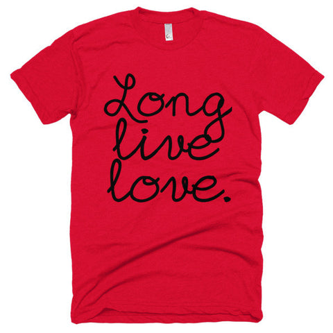 """Long Live Love"" Exclusive Nicknickers... Short sleeve soft t-shirt"