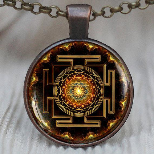 Sacred Sri Yantra Necklace + Pendant - Swag Factory