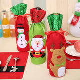 Christmas Theme Wine Champagne Bottle Bags (3pcs) - Swag Factory