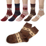 Cute Christmas Deer Design Socks (5pcs) - Swag Factory