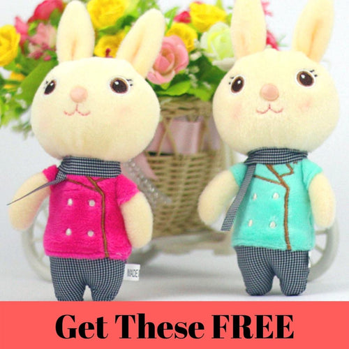 Cute Rabbit Bunny Kawaii Plush Dolls - Swag Factory