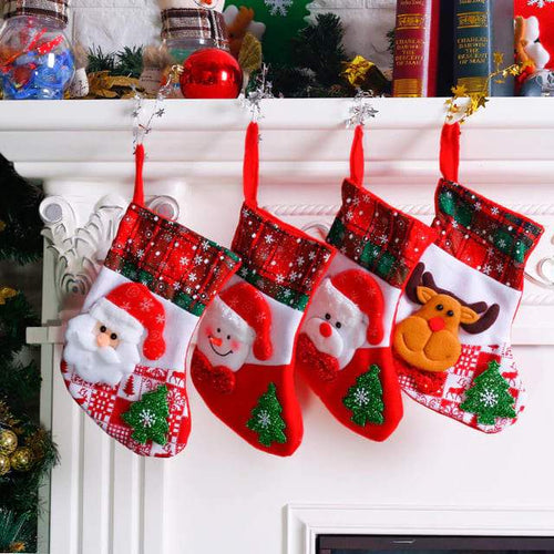 Christmas Theme Decoration Socks (4pcs) - Swag Factory