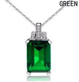 Emerald Pendant Jewellery Without Chain - Swag Factory