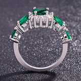 Emerald Zircon Ring - Swag Factory