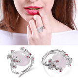 Big White Fire Opal Ring - Swag Factory