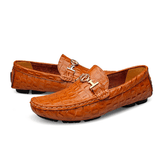Luxury Breathable Genuine Leather Flats Loafers - Swag Factory