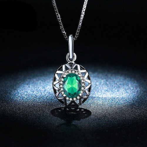 Emerald White Gold Necklace - Swag Factory