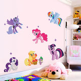 Cute My Little Pony 3D Wall Decals/Stickers (6pcs) - Swag Factory