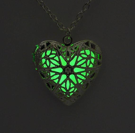 Glowing Heart Crystal Necklace