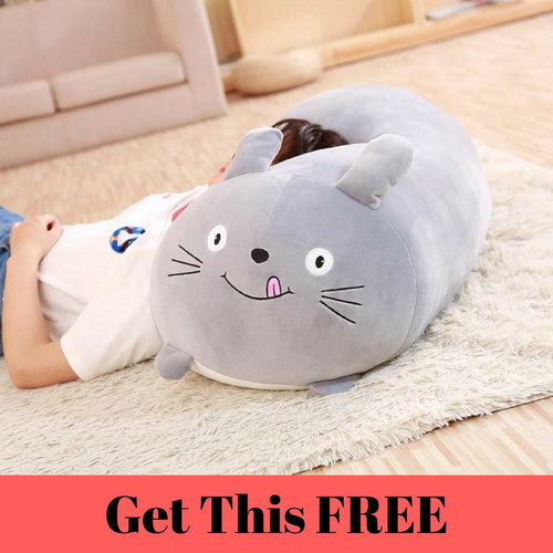 Cute Totoro Plush Cushion (30 cm) - Swag Factory