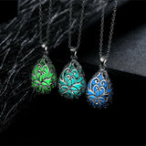 Glowing Waterdrop Crystal Necklace
