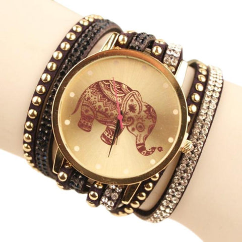 Elephant Inspired Jewelry Quartz Watch