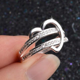 Silver Heart Wedding Ring