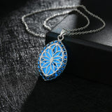 Glowing Oval Flower Necklace