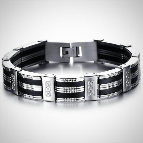Royal Stainless Silver Bracelet - Swag Factory