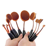 10 Piece Oval Brush Set - Swag Factory