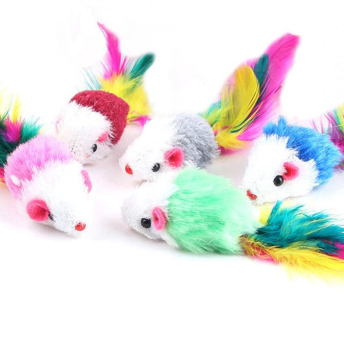 Soft Colourful Mouse Cat Toys - Swag Factory