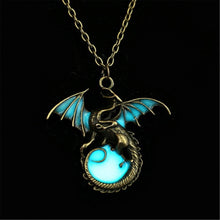 Luminous Ancient Glow In Dark Dragon Necklace
