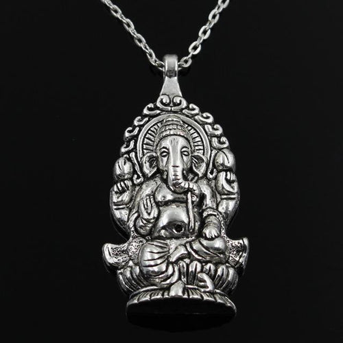 Lord Ganesha Silver Necklace - Swag Factory