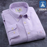 Oxford 100% Cotton Solid Dress Shirt - Swag Factory