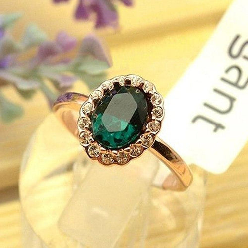 Vintage Emerald Rose Gold Ring