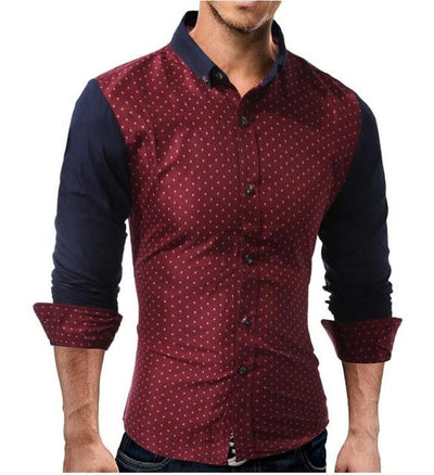 Mens Polka Dot Slim Fit Shirt - Swag Factory