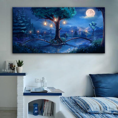 Glowing Night LED Canvas Wall Decor - Swag Factory