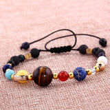 Natural Stone Solar System Charm Bracelet - Swag Factory