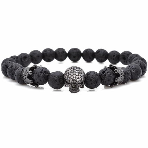 Immortality Skull Natural Beads Bracelet - Swag Factory
