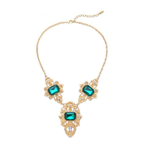 Geometric Emerald Collar Necklace - Swag Factory