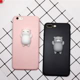 3D Squishy Cute Cat iPhone Case - Swag Factory