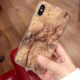 Luxury Bling Marble Design iPhone Case - Swag Factory